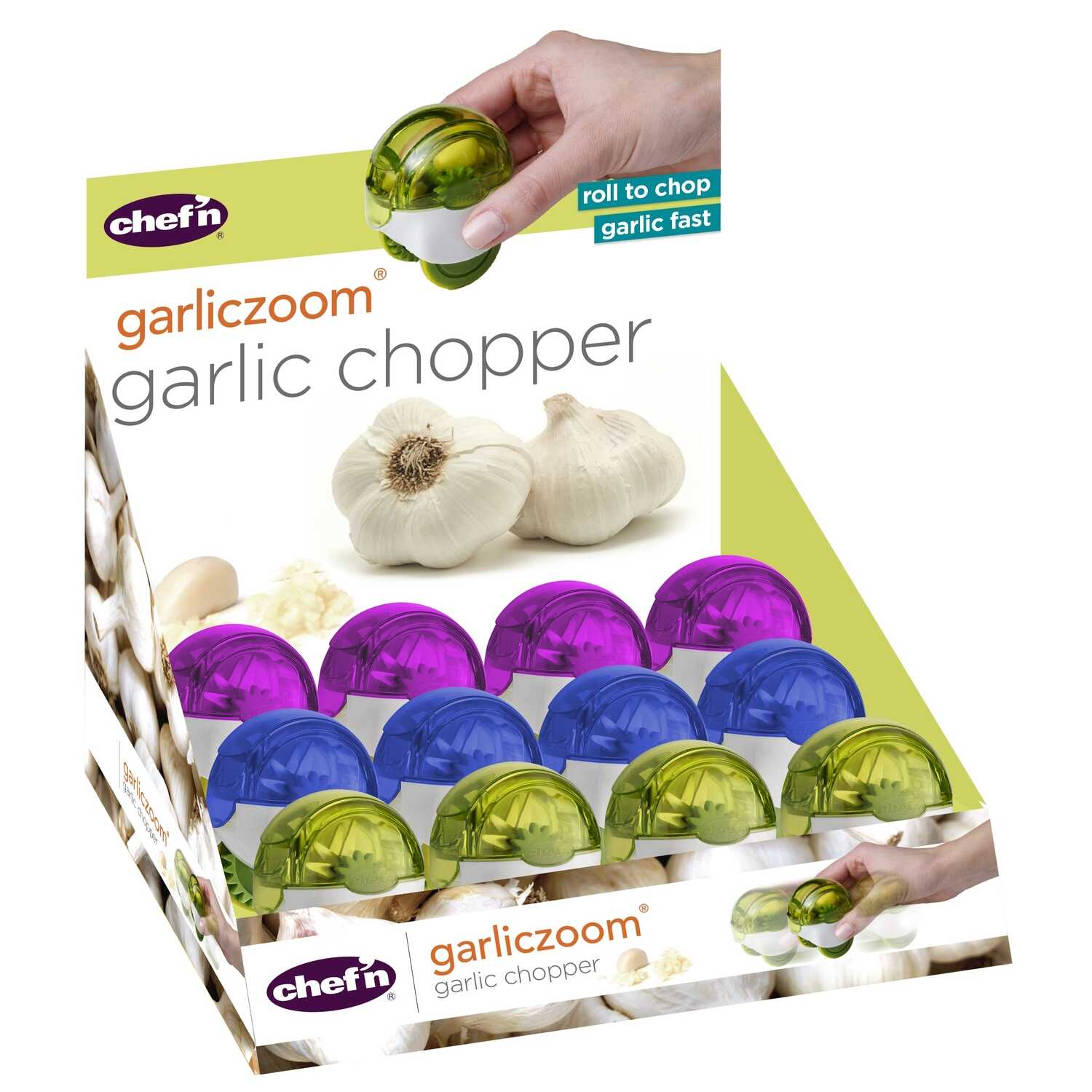 Chef'n  2-9/16 ft. L Assorted Colors  Garlic Chopper
