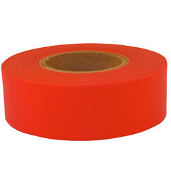 C.H. Hanson  150 ft. L x 1.2 in. W Plastic/PVC  Flagging Tape  Fluorescent Red