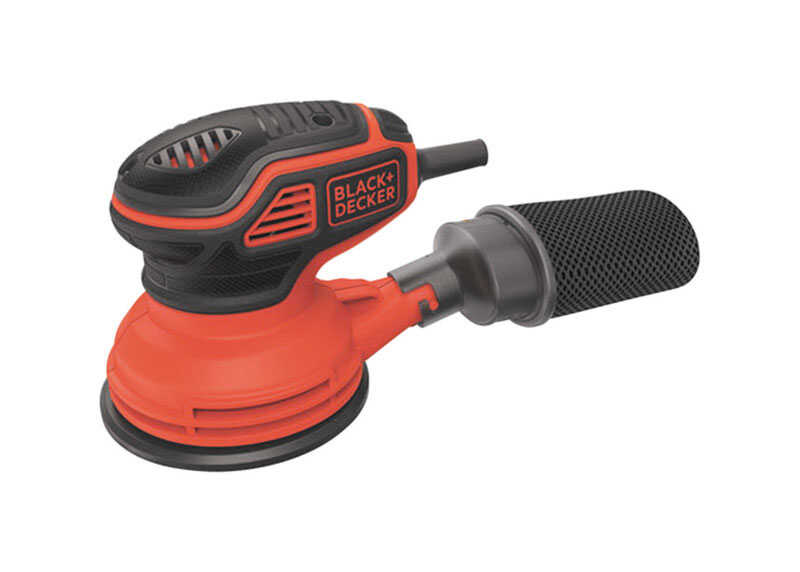 Black and Decker  Corded  Random Orbit Sander  2.4 amps 14000 opm Orange