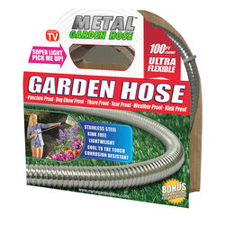 Metal Garden Hose As Seen On TV 5/8 in. Dia. x 100 ft. L Stainless Steel Garden Hose