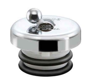 Flip-It  Multi-Size  Tub Stopper  ABS Plastic  Chrome Plated