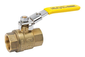 B & K  ProLine  3/4 in. Brass  Threaded  Ball Valve  Full Port