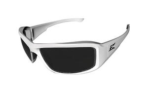 Edge Eyewear  Brazeau Torque  Safety Glasses  Smoke Lens White Frame 1 pc.