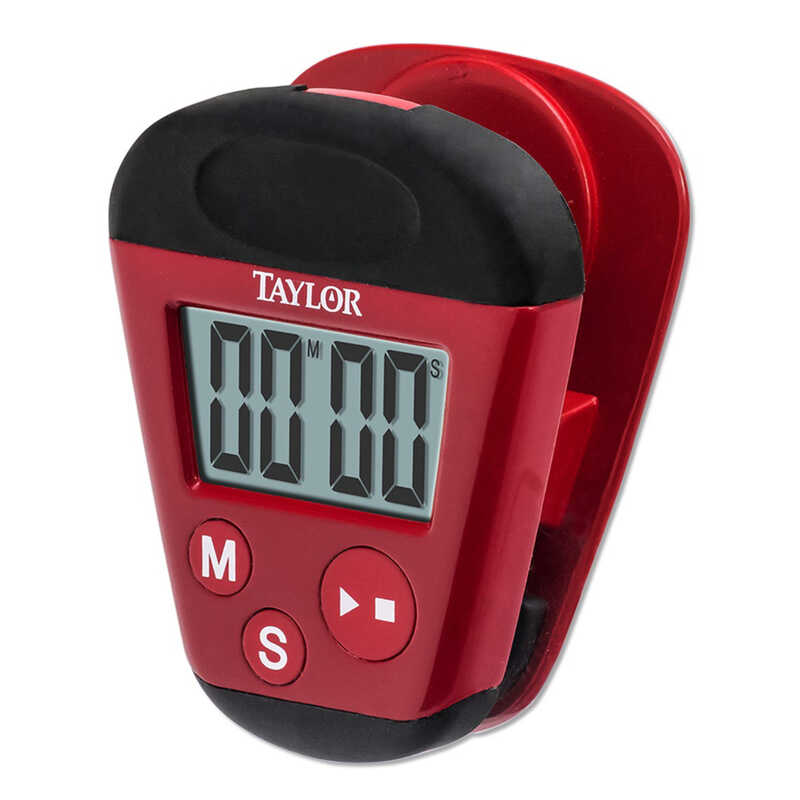 Taylor  Precision Products  Digital  Plastic  Clip Timer