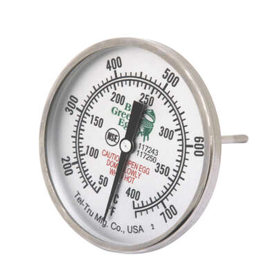 Big Green Egg  3 in  Analog  Grill Thermometer