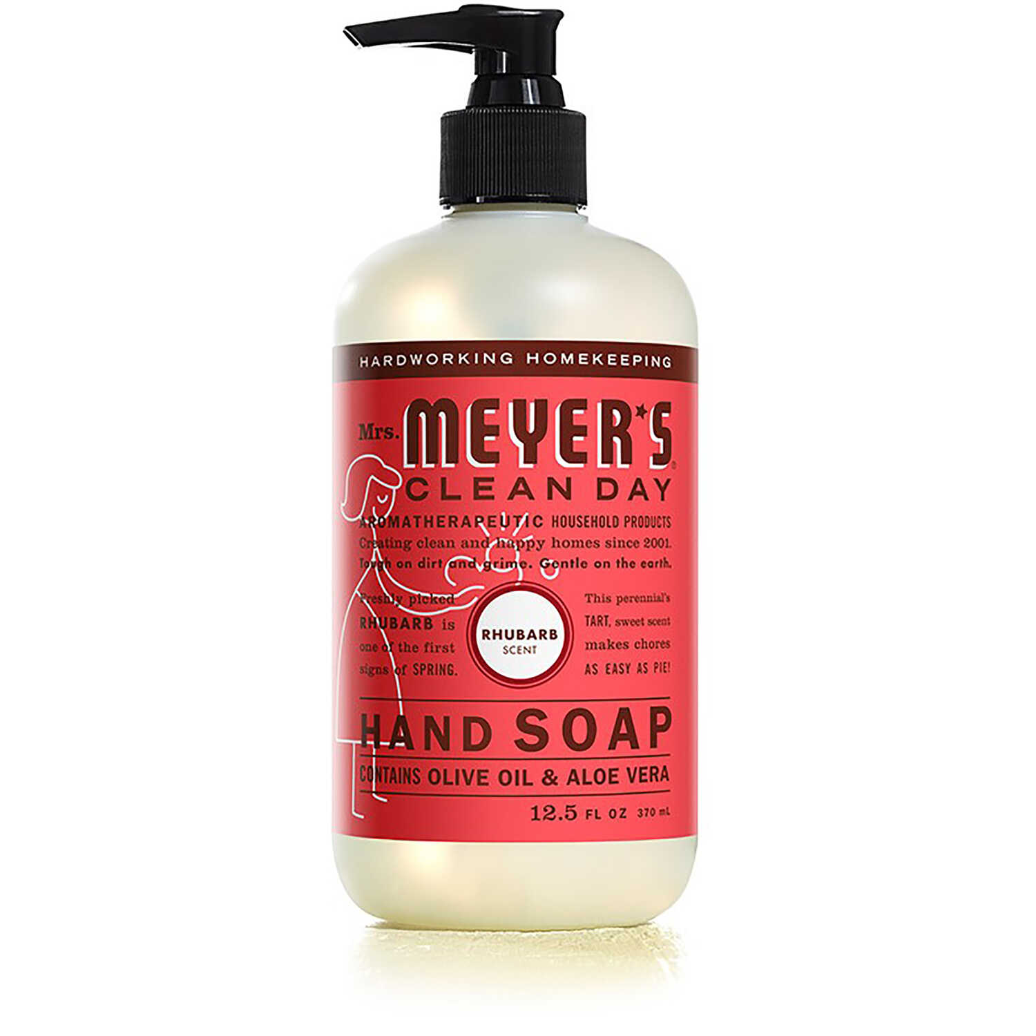Mrs. Meyer's  Clean Day  Organic Rhubarb Scent Liquid Hand Soap  12.5 oz.