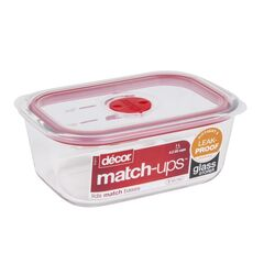 Decor  Match-Ups  4.2 cup Food Storage Container  1 pk Clear
