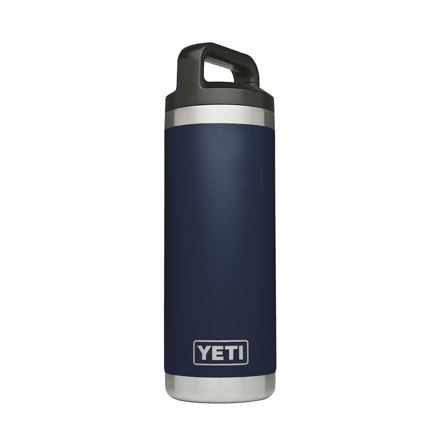 YETI  Rambler  Navy  Stainless Steel  Insulated Bottle  BPA Free 18 oz.