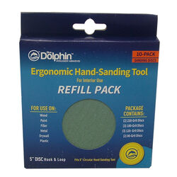 Blue Dolphin 5 in. W Assorted Grit Palm Sanding Pad