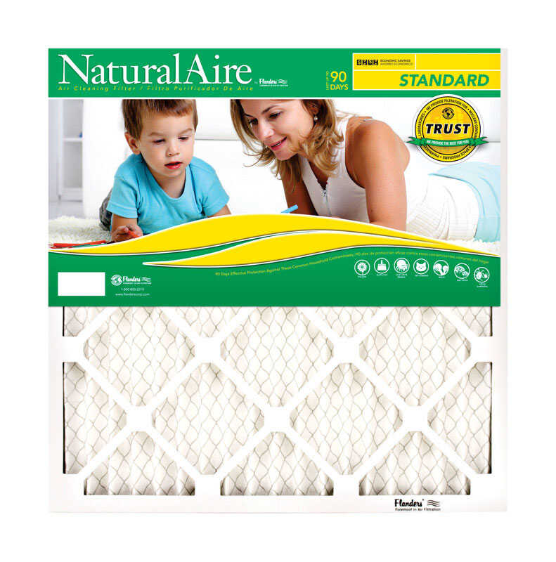 AAF Flanders  NaturalAire  24 in. H x 20 in. W x 1 in. D Polyester  Air Filter