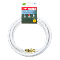 Swan  1/2 in. Dia. x 10 ft. L RV/Marine  White  Rubber  Hose