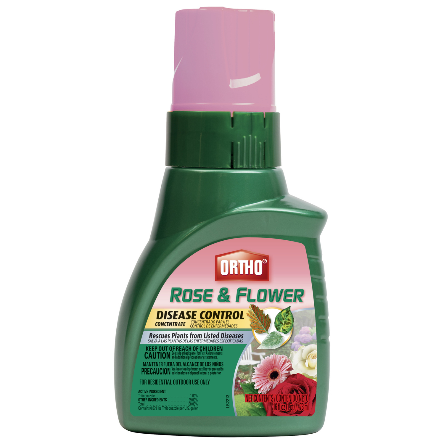 Ortho  Rose & Flower  Concentrated Liquid  Disease Control  16 oz.