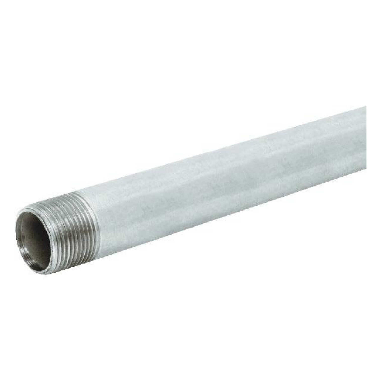 Merfish Pipe & Supply  1-1/2 in. Dia. x 10 ft. L Galvanized  Steel Pipe