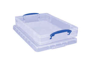 Really Useful Box  4-7/16 in. H x 14 in. W x 18 in. D Stackable Storage Box