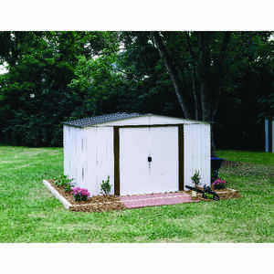 Arrow  72.88 in. H x 123.25 in. W x 95.25 in. D White  Steel  Storage Building