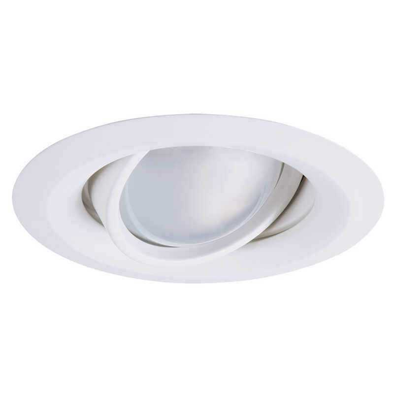 Halo  E-Series  Matte  White  5 in. W Plastic  Recessed Lighting Gimbal