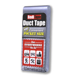 RediTape  1.88 in. W x 5 yd. L Silver  Solid  Pocket-Size Duct Tape