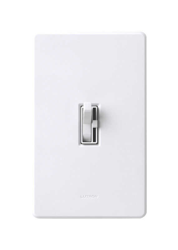 Lutron  Toggler  White  600 watts 3-Way  Dimmer Switch  1 pk