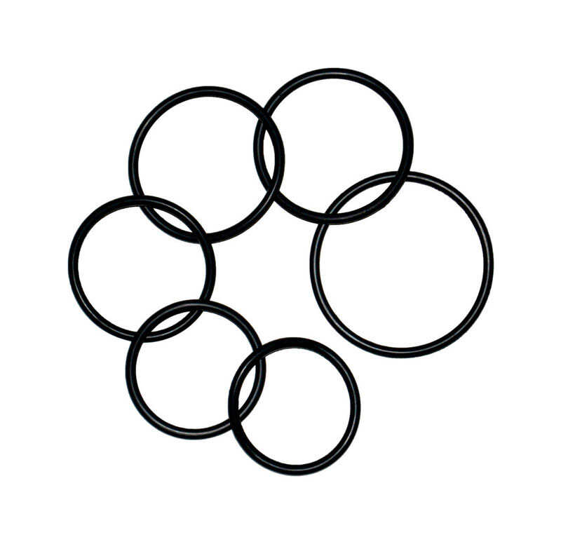 Danco  2-1/4 in. Dia. Rubber  Assorted O-Ring  6 pk