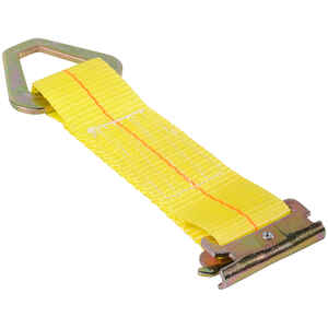Keeper  2 in. W x 7 in. L Yellow  E-Track Tie-Off  2000 lb. 1 pk