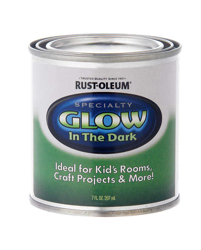 Rust-Oleum  Specialty Glow in the Dark  Flat  Luminous  Glow-in-Dark Paint  7 oz.