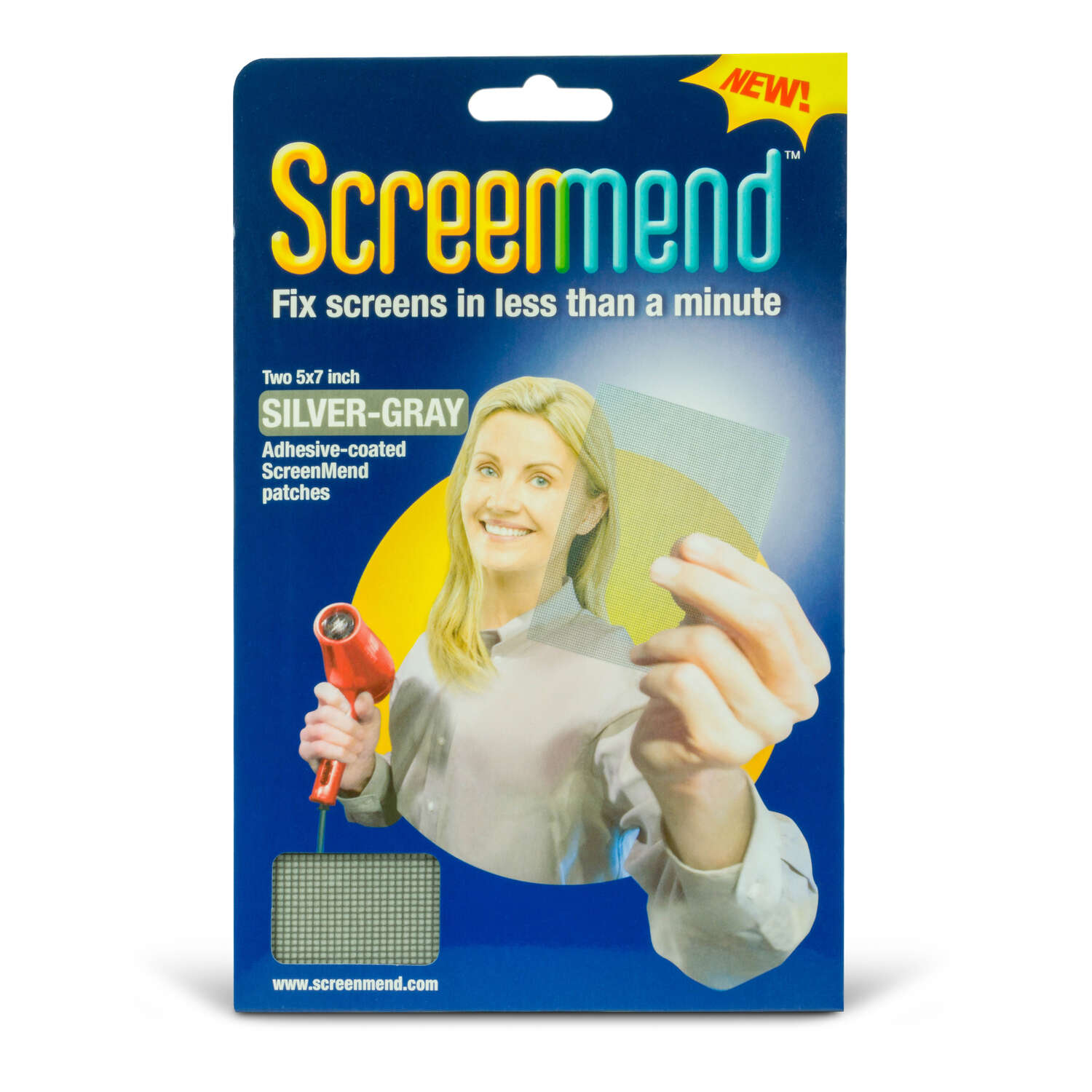 ScreenMend  Gray  Screen Patch  96 in. L