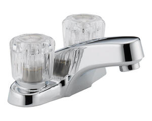 Peerless  Washerless  Chrome  Two Handle  Lavatory Faucet  4 in.