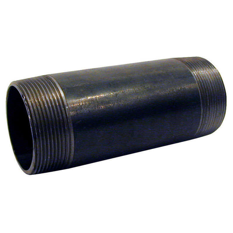 Mueller  Southland  3/4 in. MPT   x 3/4 in. Dia. x 6-1/2 in. L MPT  Black  Steel  Pipe Nipple