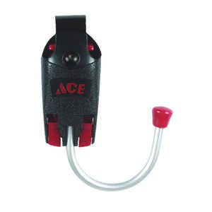 Ace  Metal/Nylon  Tool Hook  2 in. H x 5 in. L Black
