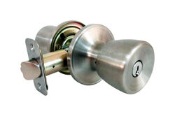 Faultless Tulip Satin Stainless Steel Metal Entry Knobs 3 Right Handed