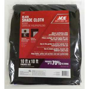 Ace  Black  Polypropylene  10 ft. W x 10 ft. L Shade Cloth