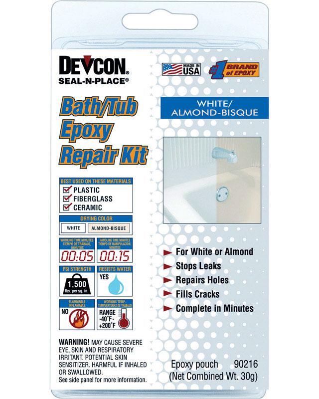 Devcon Home Seal-n-Place High Strength Liquid Bath/Tub Epoxy Repair ...