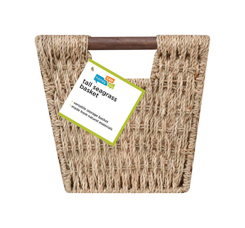 Honey Can Do  8 in. H x 9 in. W x 17 in. L Brown  Woven Basket