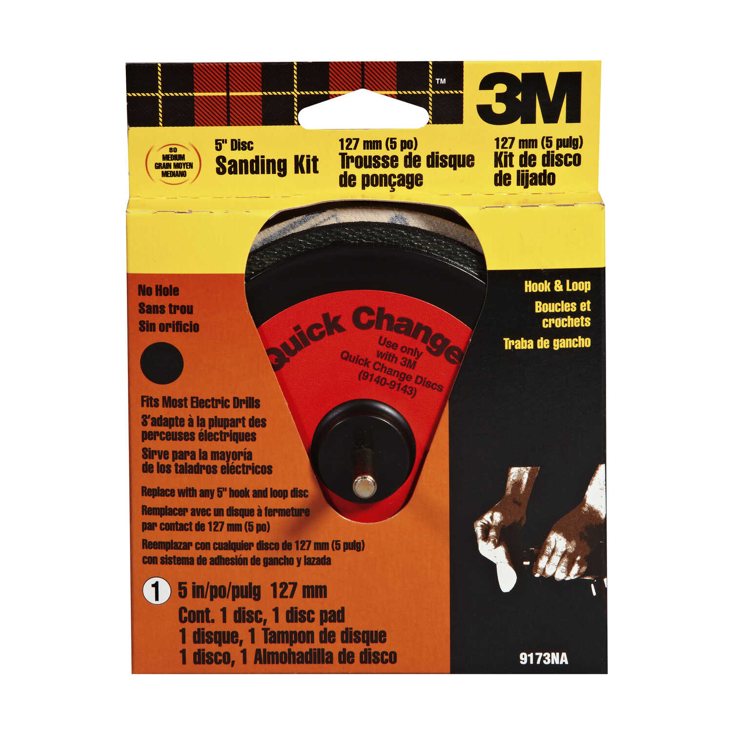 3M  5 in. Hook and Loop  Assorted  Aluminum Oxide  Sanding Disc  1 pk