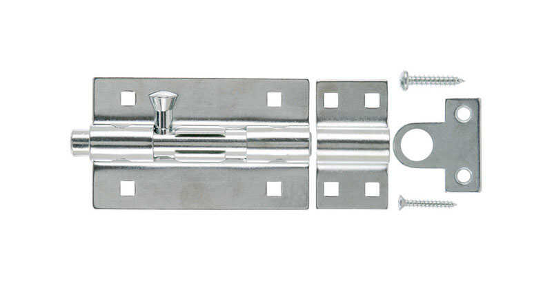 Ace  5 in. L Zinc-Plated  Steel  Barrel Bolt