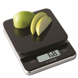 Taylor Black Digital Kitchen Scale 11 lb.