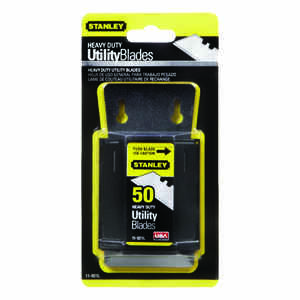 Stanley  2-7/16 in. L x 0.024 in.  Steel  Heavy Duty  Blade Dispenser with Blades  50 pc.