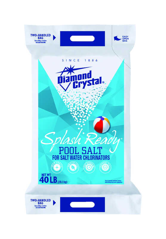 Diamond Crystal  Splash Ready  Granule  Pool Salt  40 lb.