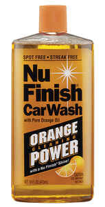 Nu-Finish  Concentrated Liquid  Car Wash Detergent  16 oz.