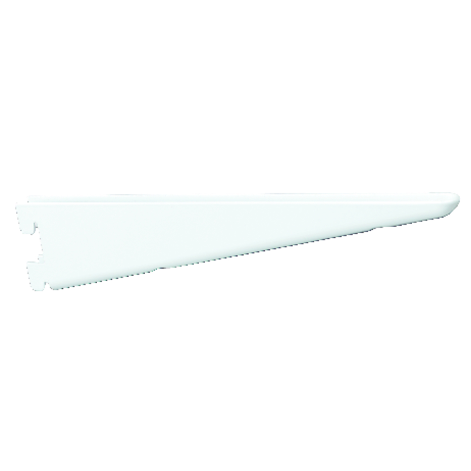Knape & Vogt  White  White  Steel  16 Ga. 182 Series  Bracket  1.93 in. H x 0.53 in. W x 12-1/2 in.