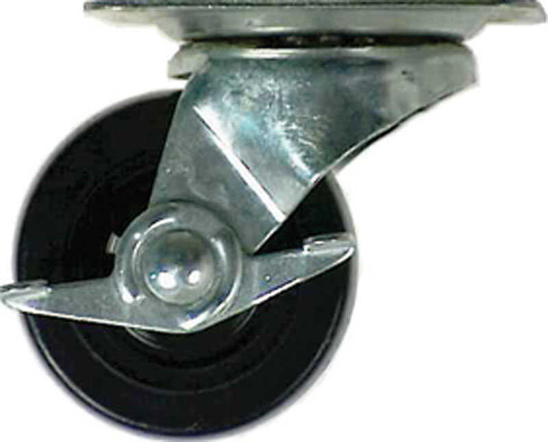 Shepherd  4 in. Dia. Swivel Rubber  Caster  255 lb. 1 pk
