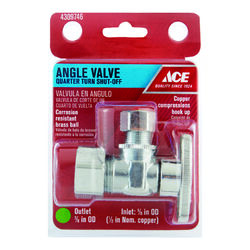 Ace Compression Compression Brass Angle Stop Valve