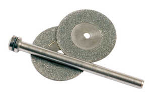 Forney  3/4 in. Dia. x 1 in. thick  Diamond  Grinding Wheel Kit  1 pc. 30000 rpm