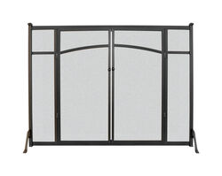 Panacea  Brown  Matte  Metal  Fireplace Screen