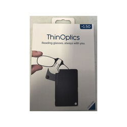 ThinOptics  Always With You  Black  Reading Glasses w/FlashCard Case  +1.50