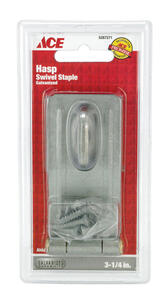 Ace  Galvanized  Steel  3-1/4 in. L Swivel Staple Safety Hasp