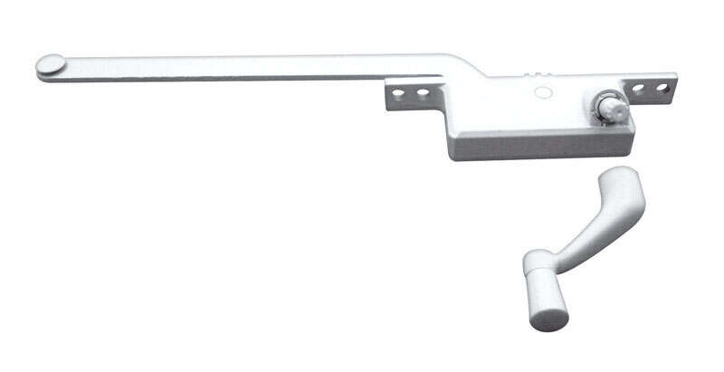 Prime-Line White Steel Left Single-Arm Casement Window Operator For Steel Framed Windows