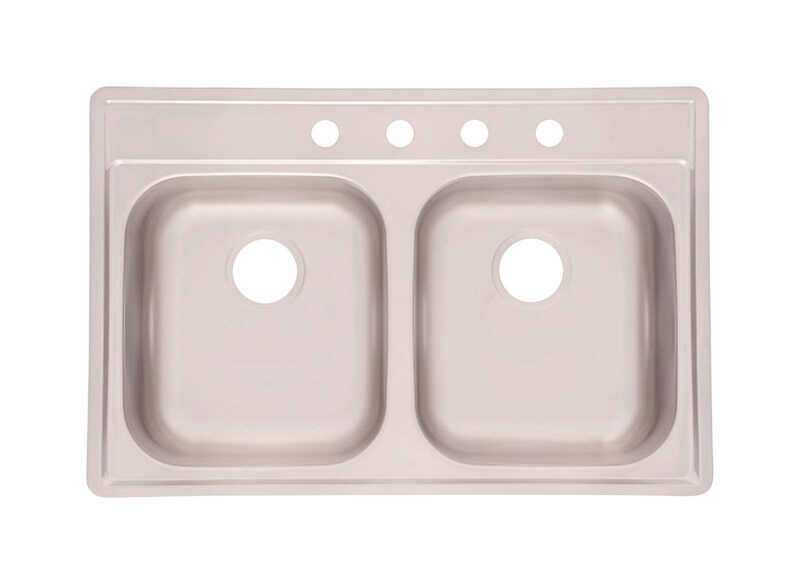 Kindred  Stainless Steel  Top Mount  33 in. W x 22 in. L Kitchen Sink
