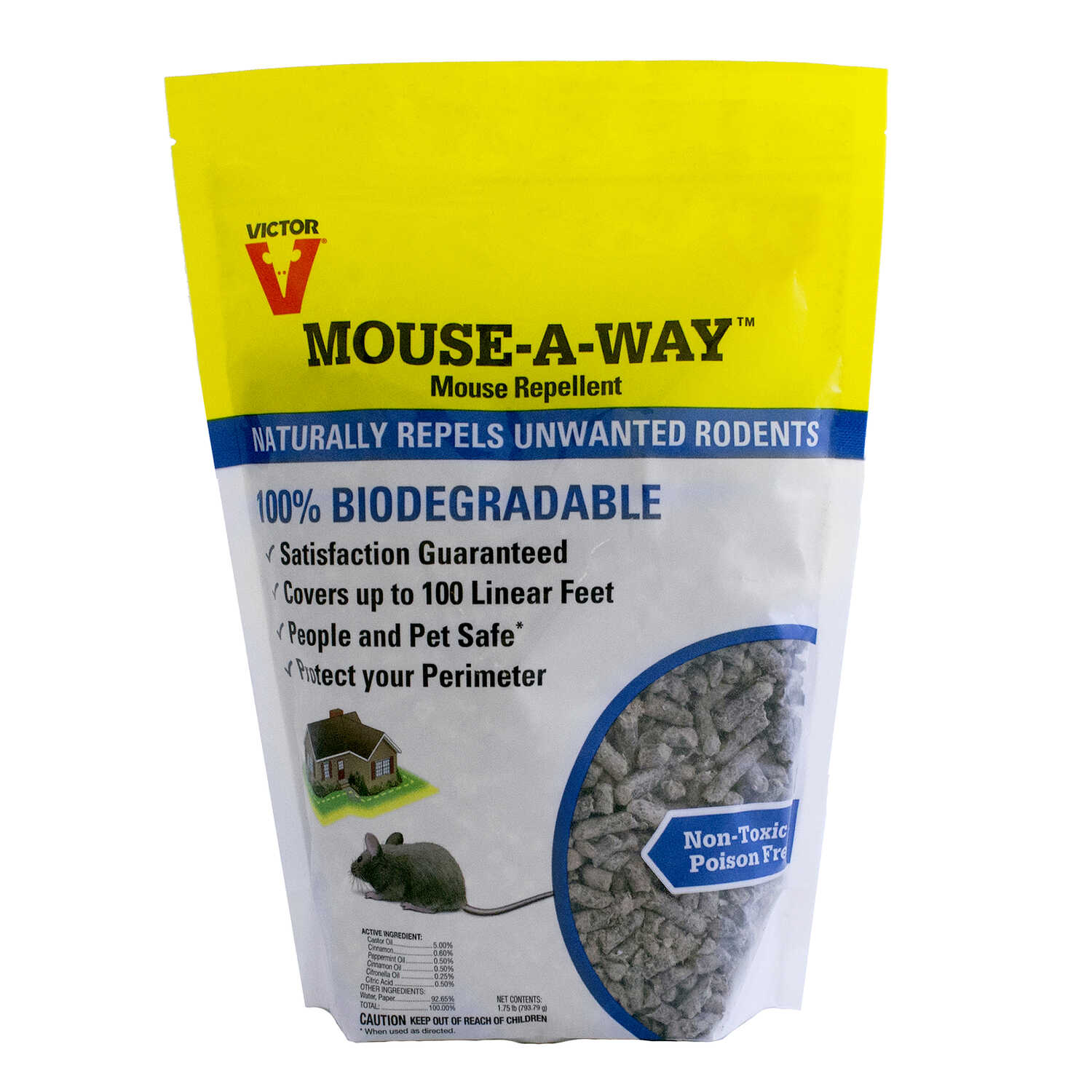 Victor  Mouse-A-Way  For Mice Animal Repellent  1.75 lb.