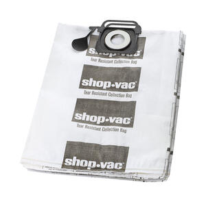 Shop-Vac  12.5 in. L x 0.5 in. W Dry Vac Bag  5-10 gal. White  2 pk
